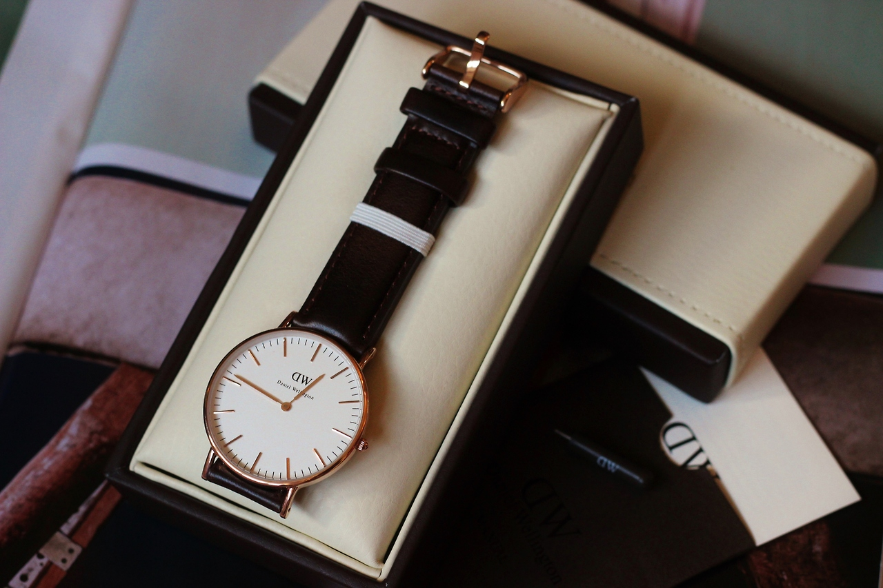 Daniel Wellington Ladies Cardiff Rose Gold Watch