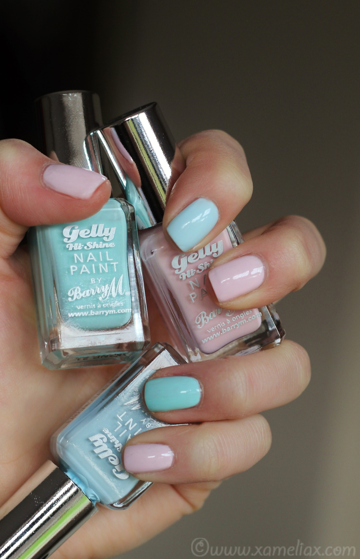 Barry m spring pastel gelly polish, rose hip swatch