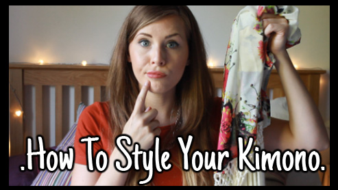 how to style a kimono, youtube, fashion, xameliax