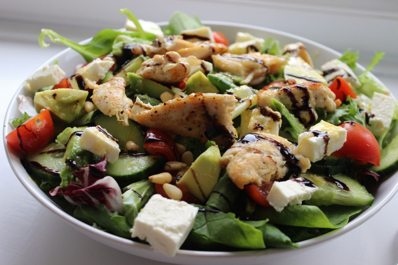 healthy chicken salad recipe. uk food blog, healthy living