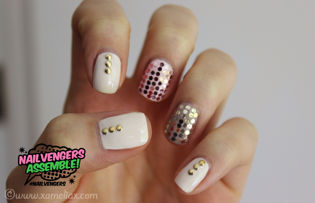 nailvengers, glitter nails, disco ball nails