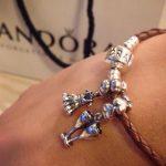 Pandora dress charm, pandora champagne glass charm