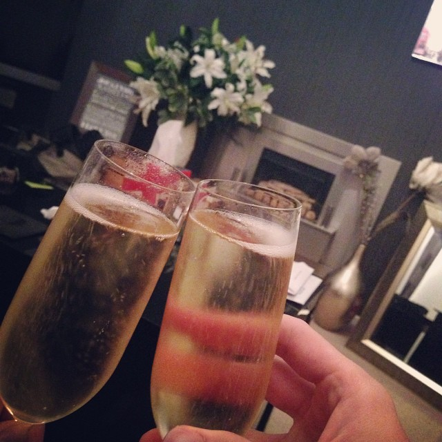 It's official, we're in! Boxes unpacked and Moët popped - here's to a new adventure! ???? #lbloggers #couple #movingin #champagne #newadventure