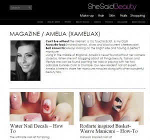 xameliax she said beauty magazine, nail art