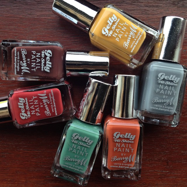 Surprise @barrymcosmetics Delivery | Their new autumn Gellys are absolutely incredible, 6 bottles of retro coloured wonderfulness. Hold me. ??? #lbloggers #barrym #nailsofig #retro #autumnwinter #vintage #gellypolish #bbloggers #newrelease