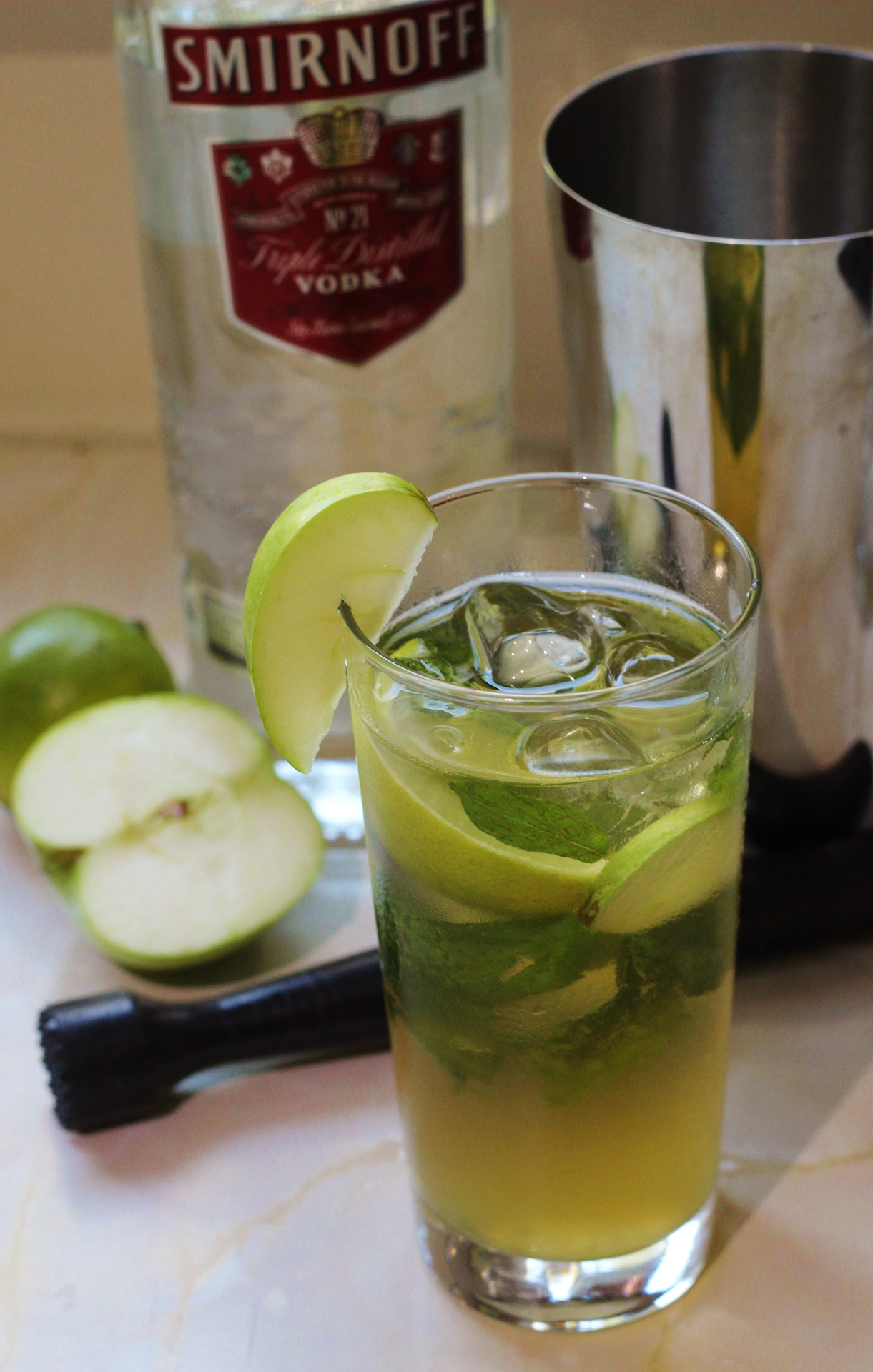 apple mojito, mojito recipe, no rum