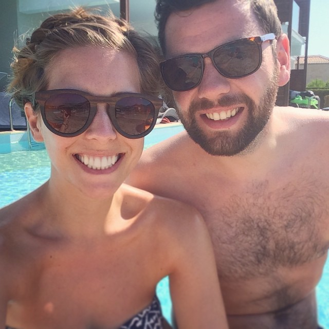 This Boy. Our Holiday ☀️???? #lbloggers #travelbloggers #greece #couple #together #weekaway #pooltime #sunglassescrew