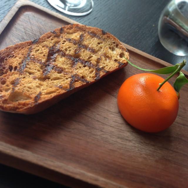 Meat Fruit ?? #lbloggers #dinnerbyheston #hestonblumenthal #dinner #lunch #starter