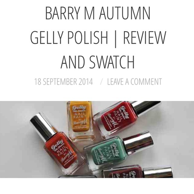 On The Blog Today | These retro beauties from @barrymcosmetics ? #lbloggers #bbloggers #nailart #barrym #autumngelly #ontheblog #xameliax #gellypolish