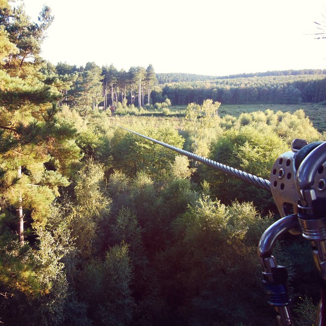 I've done things today I never thought i could....???? #lbloggers #goape #scarytimes #zipwire #pushyourself