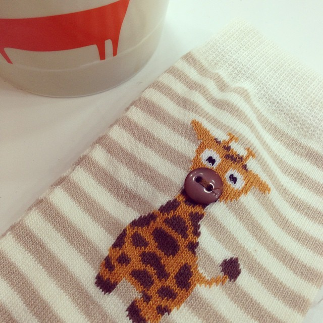 Don't think these socks from @newlookfashion could get any cuter! ? #lbloggers #newsocks #toocute #giraffe