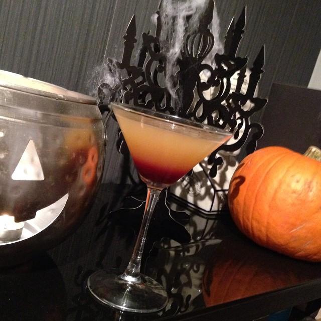 On the menu tonight - Blood Sucker Martinis!!! ????? #lbloggers #housewarming #party #halloween #cocktails #bloodsuckermartini #diy