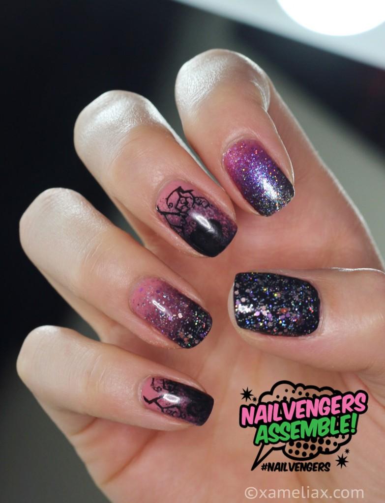Nailvengers Assemble Halloween xameliax, hallloween nail art ideas