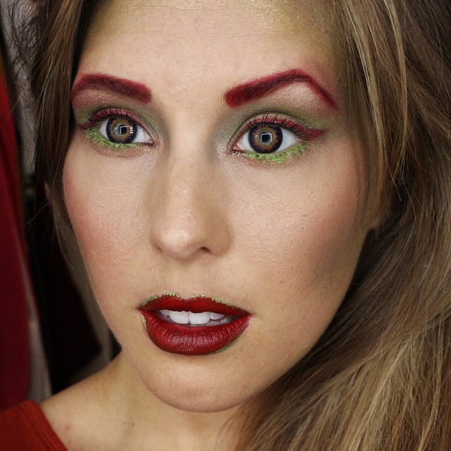 On The Blog Today | xameliax.com | Poison Ivy Halloween Makeup Tutorial ??? #lbloggers #bbloggers #halloween #makeup #poisonivy #tutorial #fragrancedirect