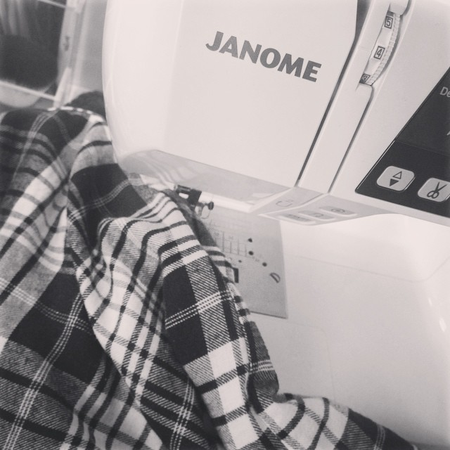 My new sewing machine on it's maiden voyage - repairing a pair of my favourite pjs ?? #lbloggers #DIY #sewingmachine #learning #newskills