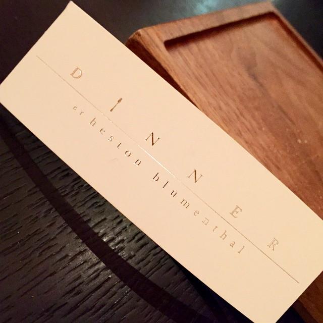 Tonight ??? #lbloggers #dinner #hestonblumenthal #mandarinoriental #weekendaway #london #meandhim