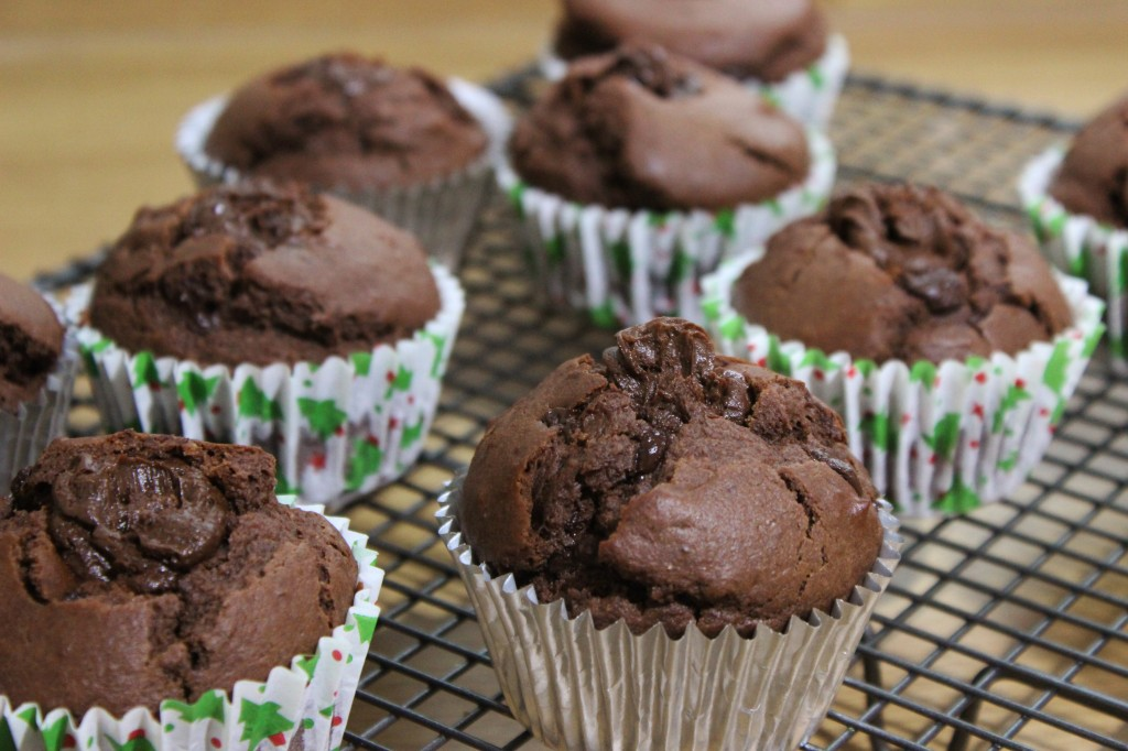 Dark Chocolate Orange Muffins with Brandy Buttercream