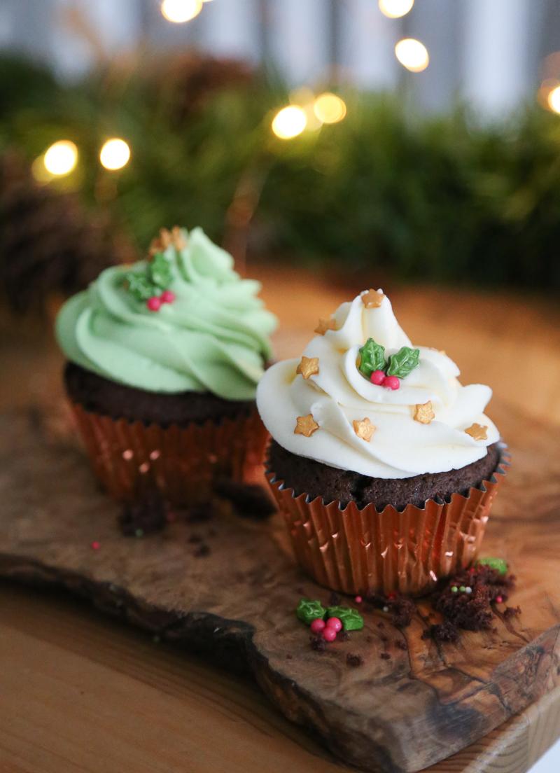 Chocolate Orange Cupcake, christmas cupcakes