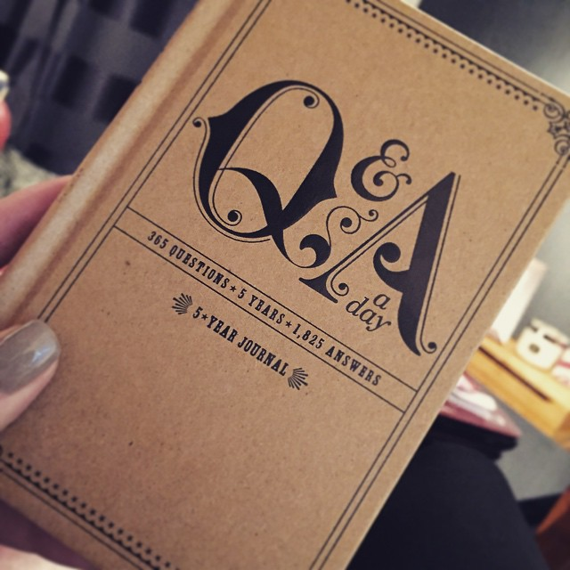 My new Q&A a day diary turned up today - blaming @modelrecommends for this purchase but I love it...got some catching up to do! ❤️?✏️ #lbloggers #QandAaDay #5years #memories