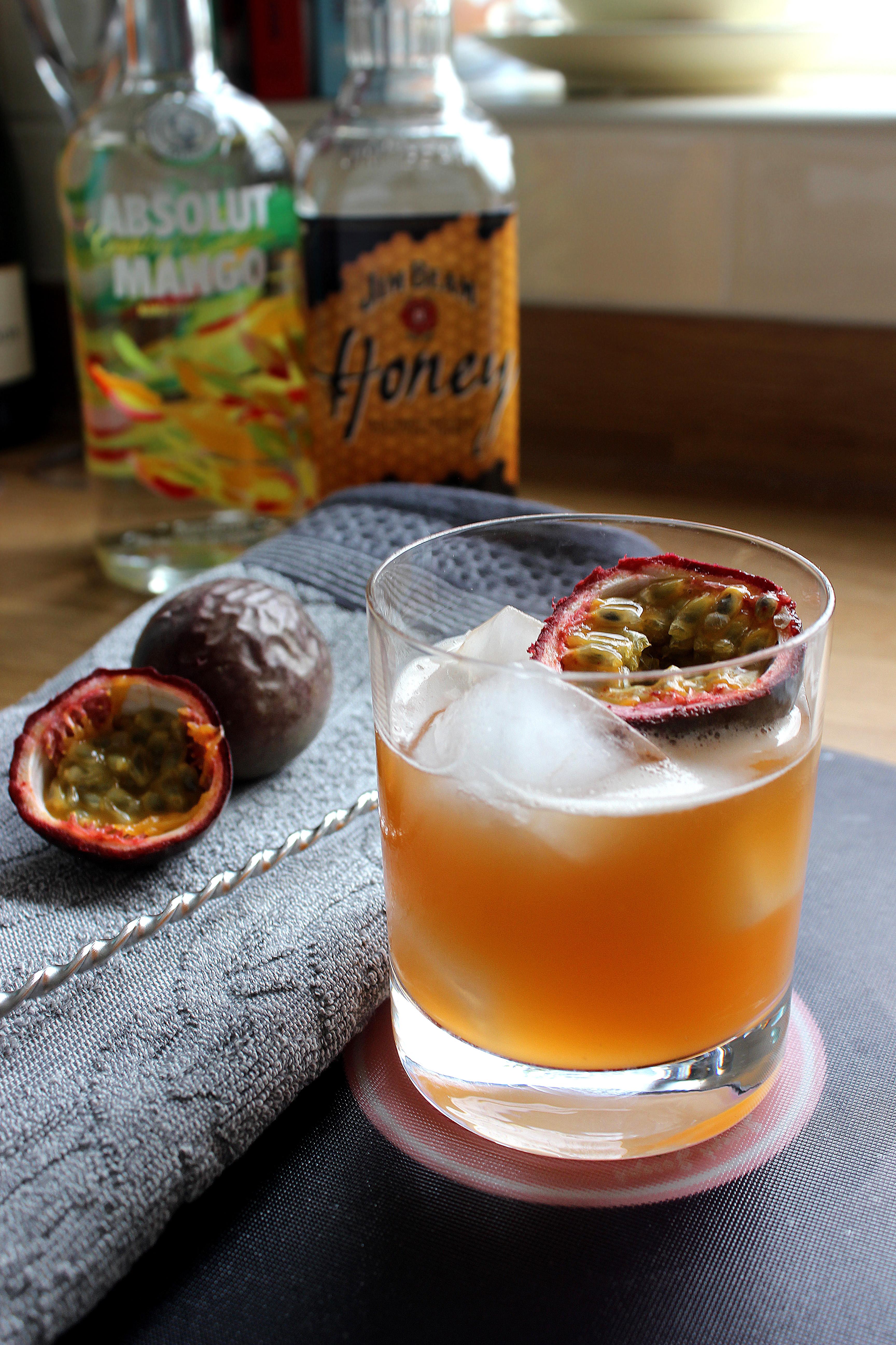 passion fruit bourbon vodka cocktail recipe