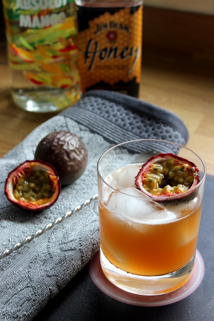 passion fruit bourbon vodka cocktail recipe