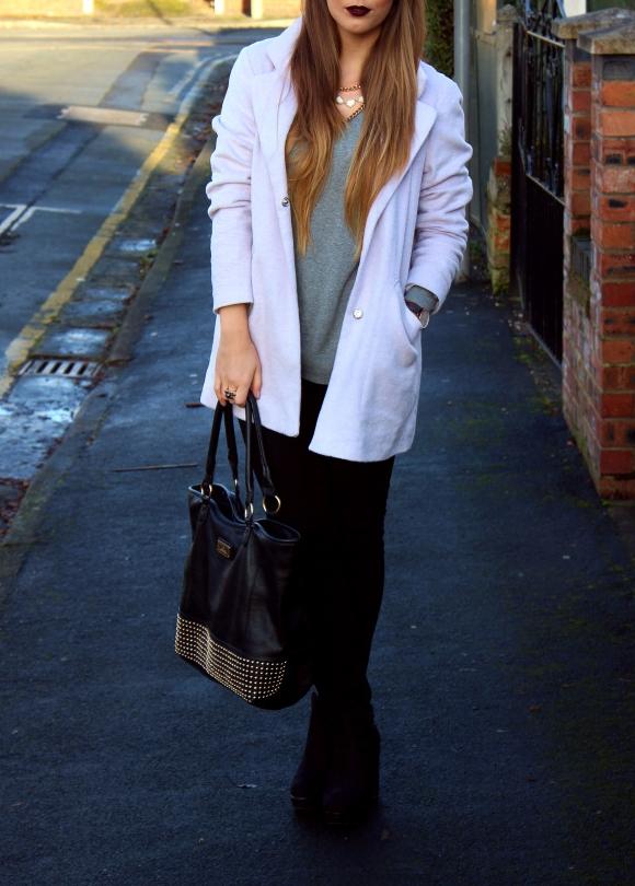 Purple Primark Coat OOTD , UK Fashion blogger, midlands fashion blogger, primark outfit of the day