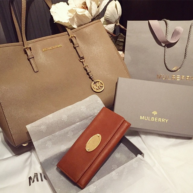 One successful shopping day ?? #lbloggers #weekendaway #michaelkors #mulberry #presents #frommetome
