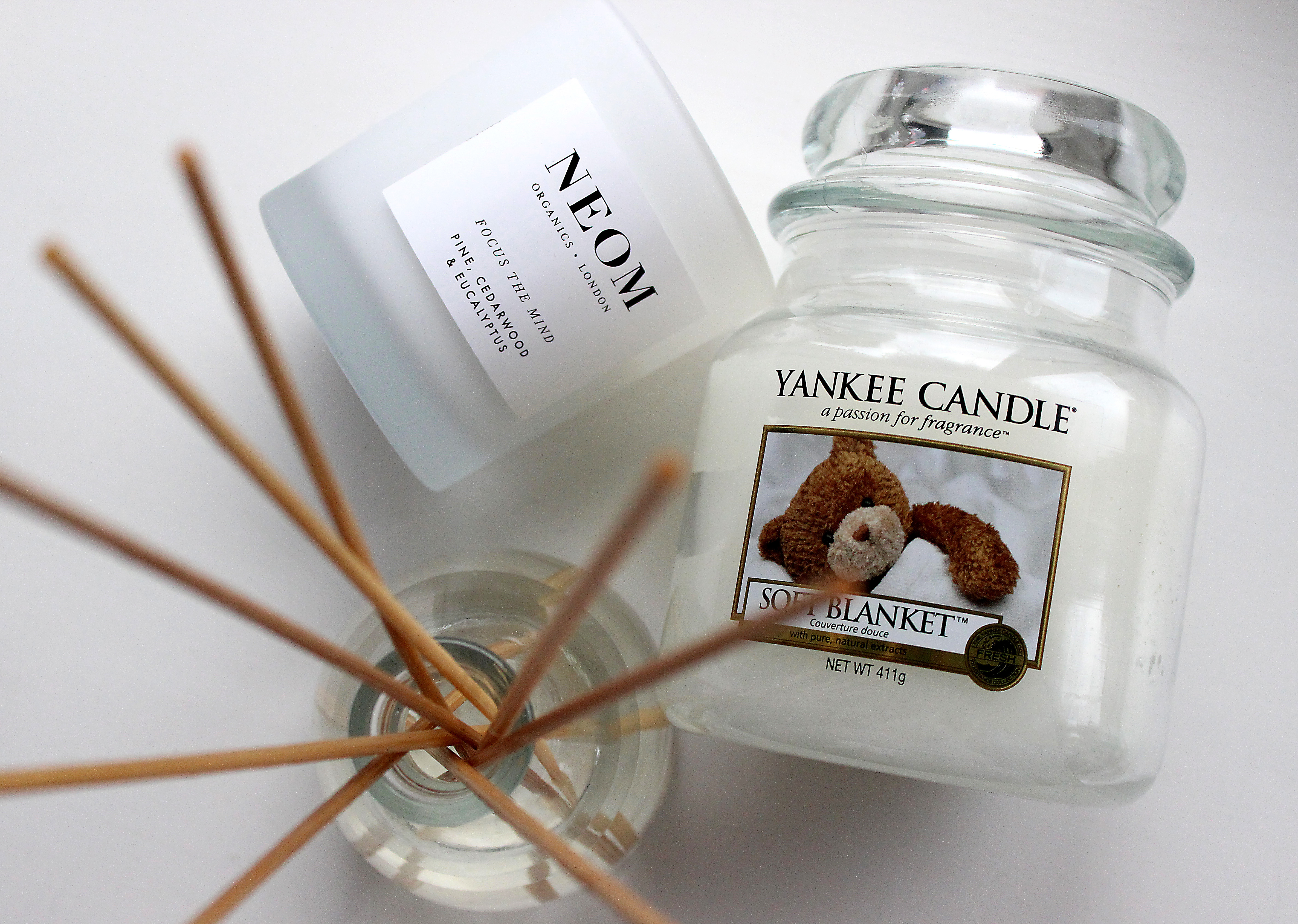 yankee candle soft blanket, body shop reed diffuser review