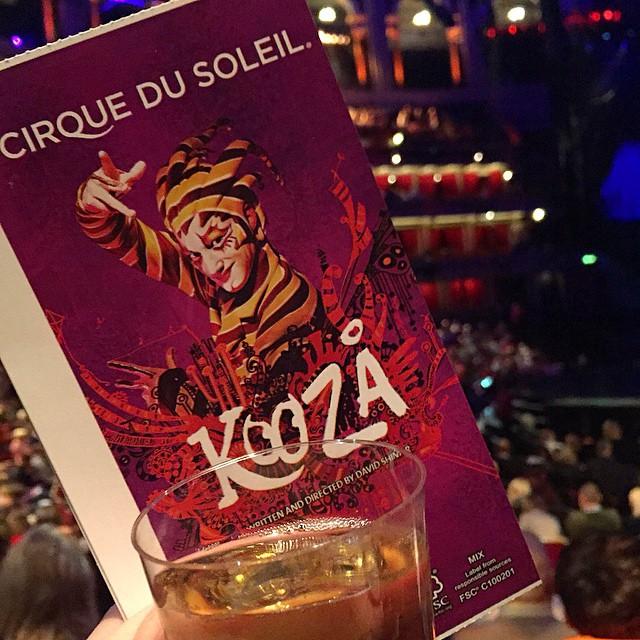 I've wanted to see Cirque for SO long ??? #lbloggers #cirquedusoleil #kooza #royalalberthall