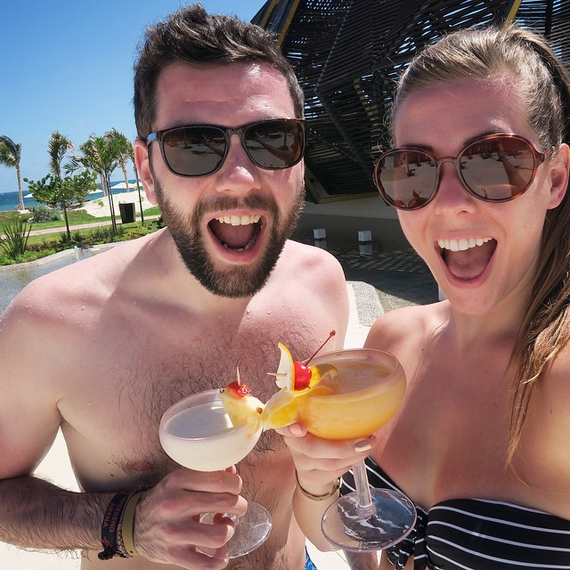 Happy holiday faces with @joekenmil ?☀️??? #lbloggers #mexico #meandhim