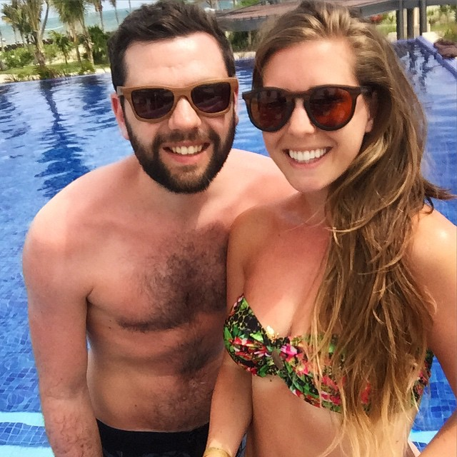 Pool geeks ??☀️ (click for tags!) #lbloggers #holiday #mexico #meandhim