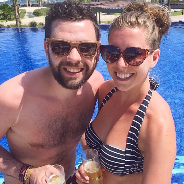 Copying @joekenmil with his poolside snapshot this afternoon - it's HOT today...Joe's plastic sunglasses snapped in the sun - time to get the @moathouseeyes out instead! ???☀️ #lbloggers #holiday #mexico #meandhim