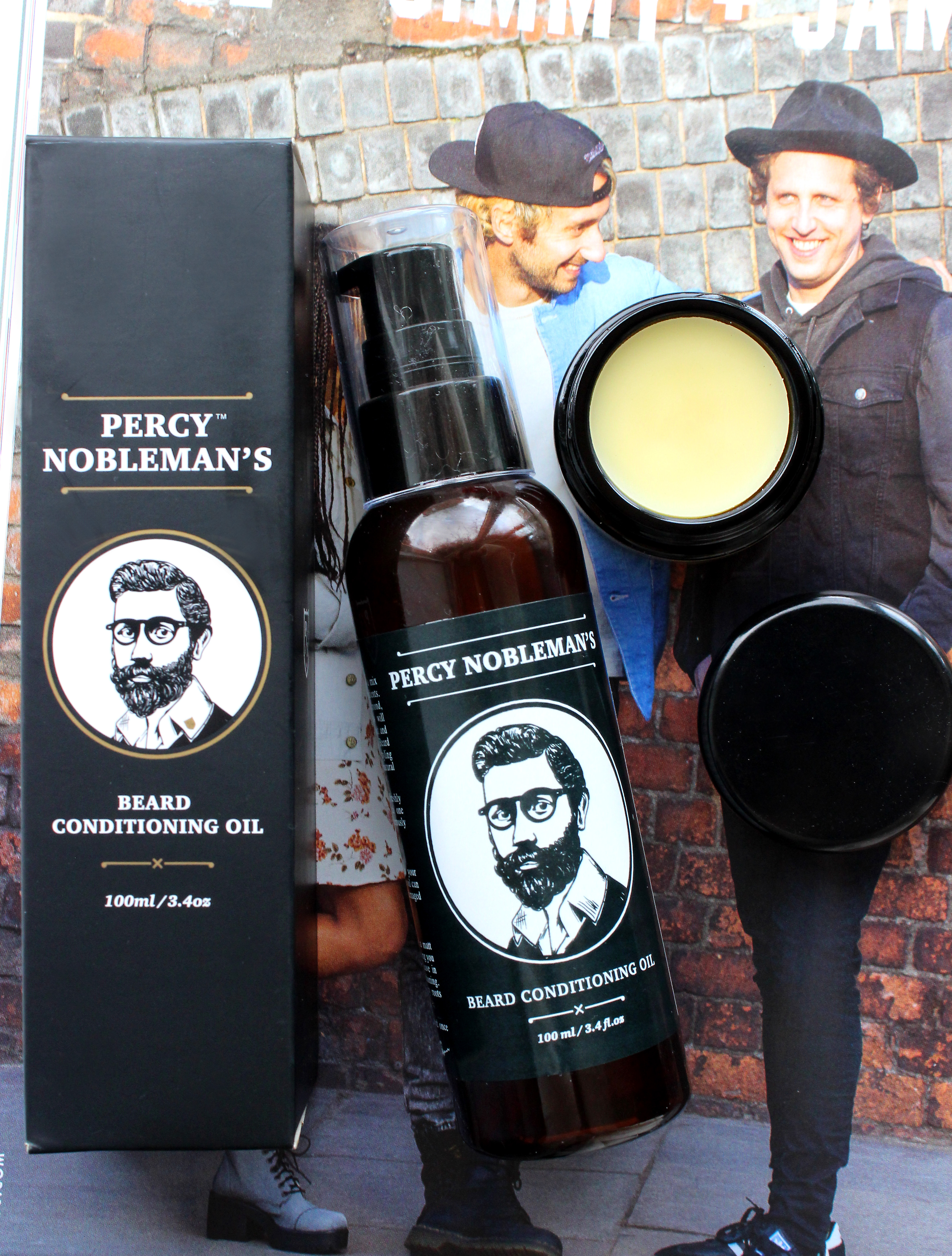 Percy Nobleman Beard Oil review, Dr Dittmar Moustache Wax review, uk male blogger, male beauty blog