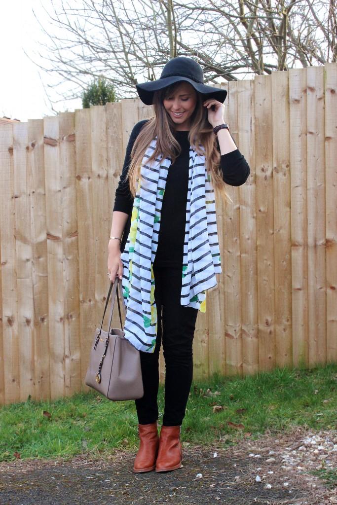 xameliax primark lemon stripe scarf