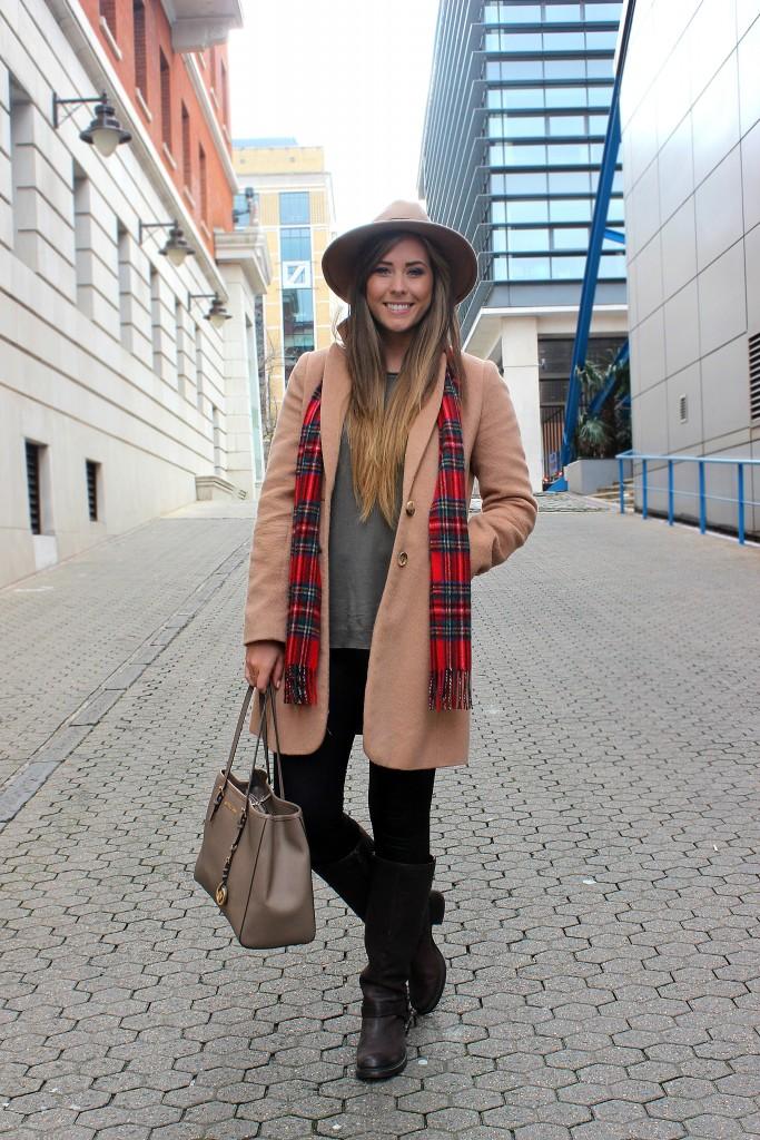 xameliax OOTD Tartan Camel Coat (3)