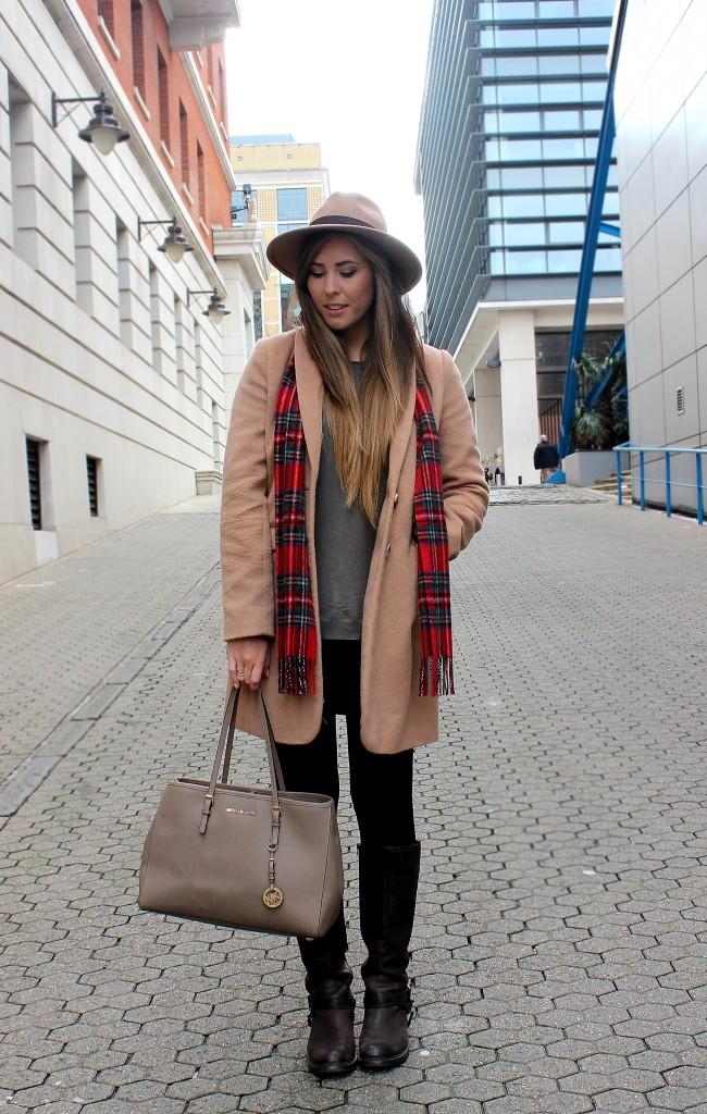 xameliax OOTD Tartan Camel Coat (4)