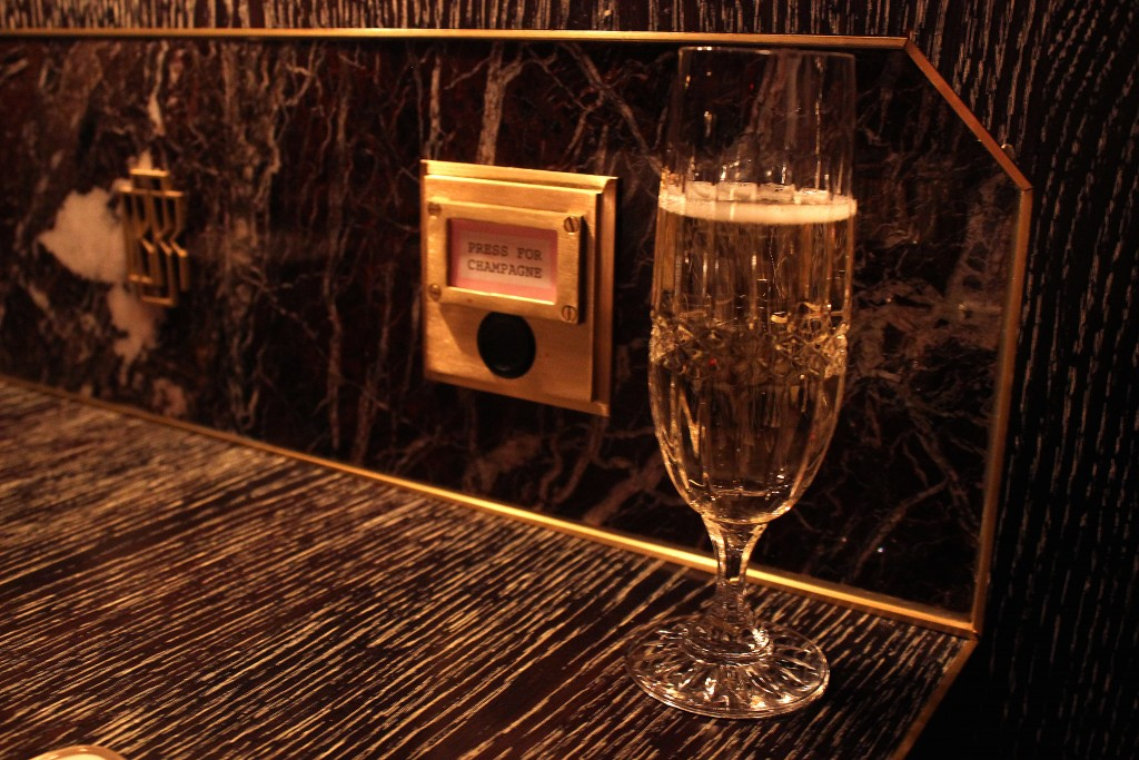 Bob Bob Ricard Review, Press for champagne button restaurant (5)