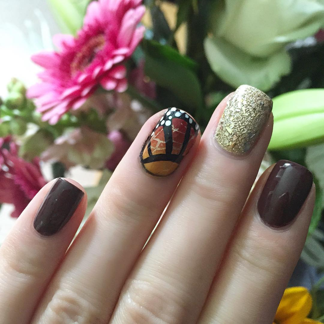 Nail art inspiration from my beautiful celebration flowers and thishellip