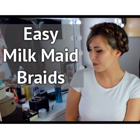 Ive got a tutorial for these Milk Maid Braids uphellip