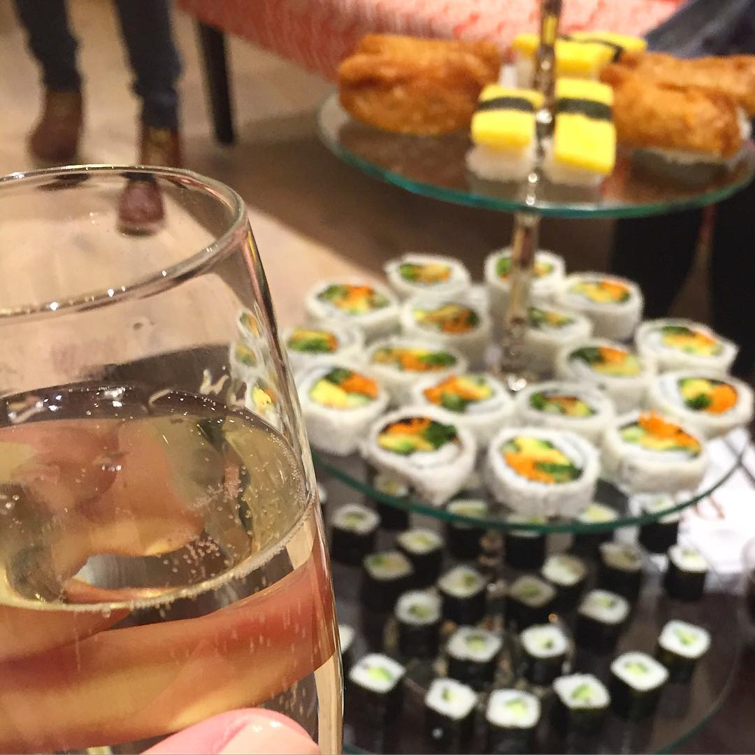 Sushi and bubbles ristylestudio event this evening fbloggers imwearingri stylestudiohellip