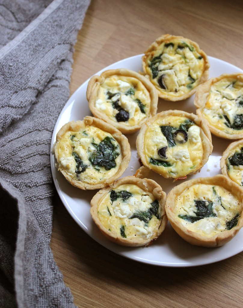 Feta, Black Olive and Spinach Quiche Recipe, Mini Quiche Tart Recipe (1)