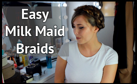 milk maid braid tutorial, dutch braids tutorial
