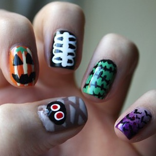 Throwback Thursday to this spooky nail art from the archiveshellip