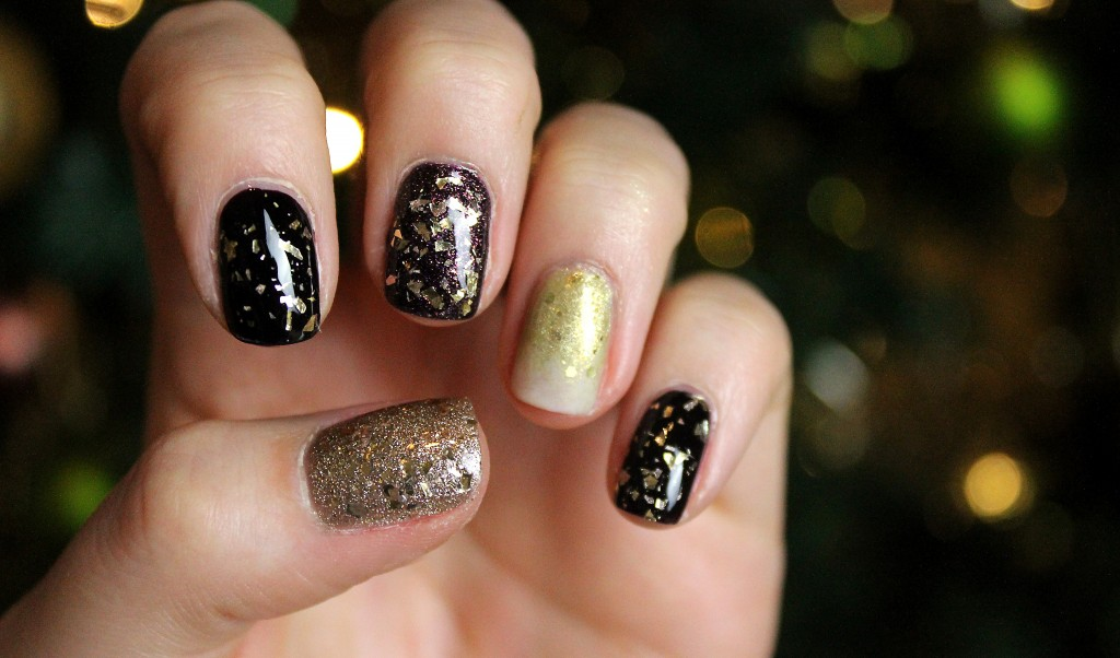 Champagne nail art tutorial, new year's eve nal art