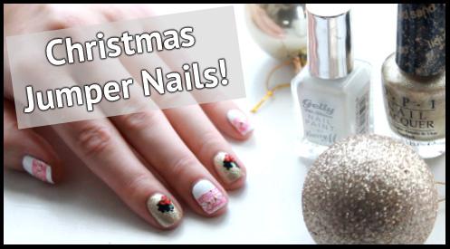 Christmas Jumper Nail Art Tutorial