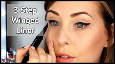 3 Step Winged Eye Liner Tutorial