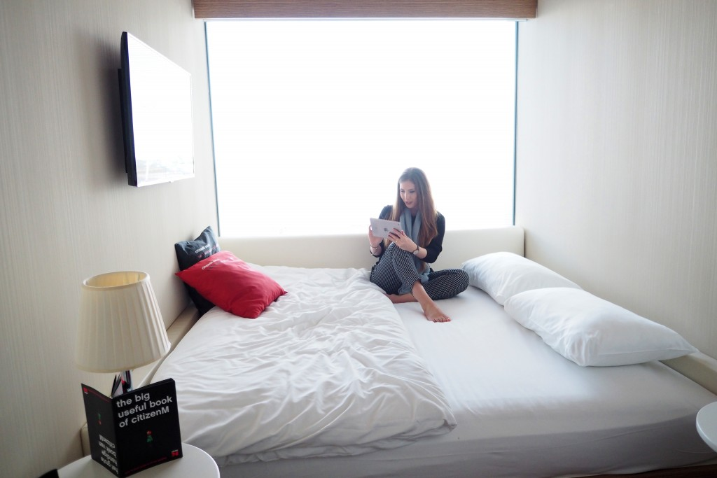 Citizen M Amsterdam bed