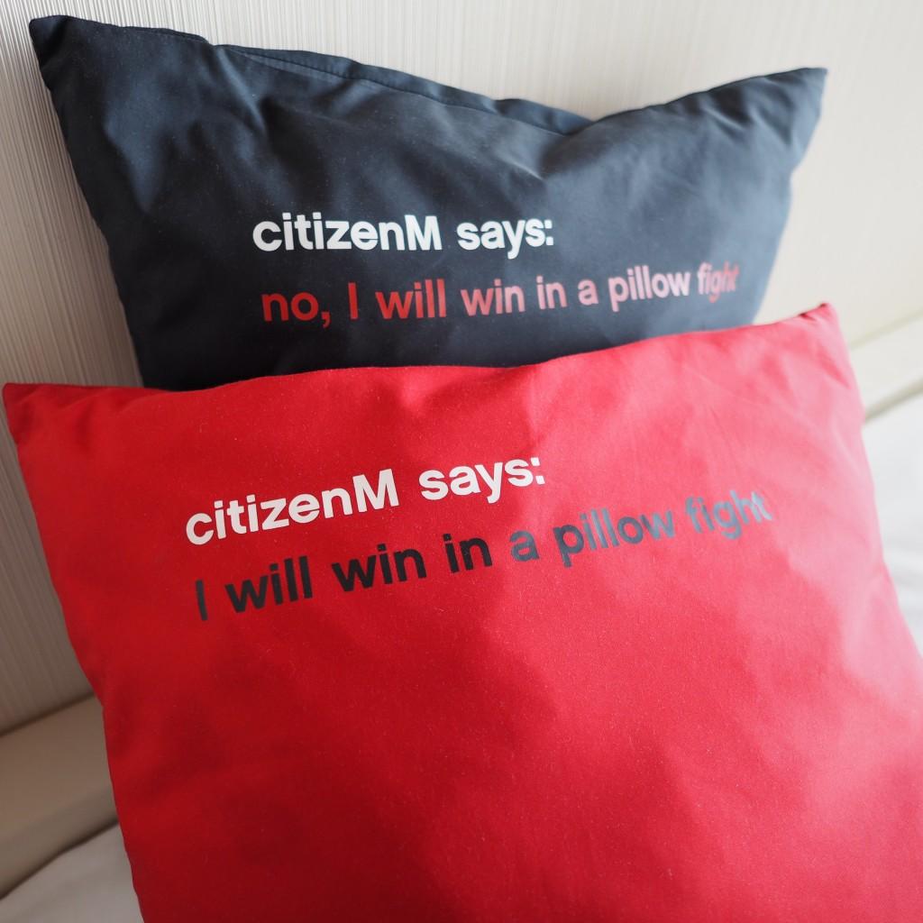 Citizen M Amsterdam pillows