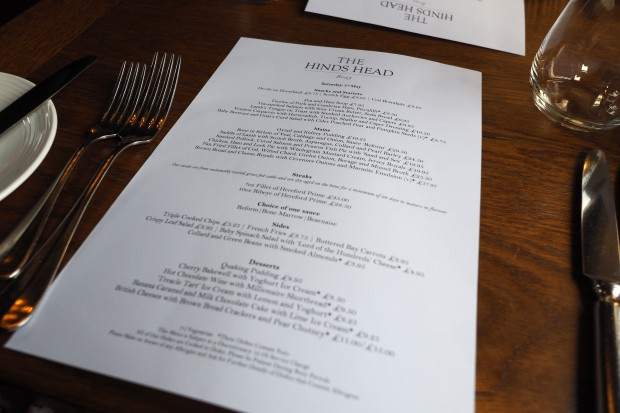 Hinds Head Bray Review, Heston Blumenthal pub