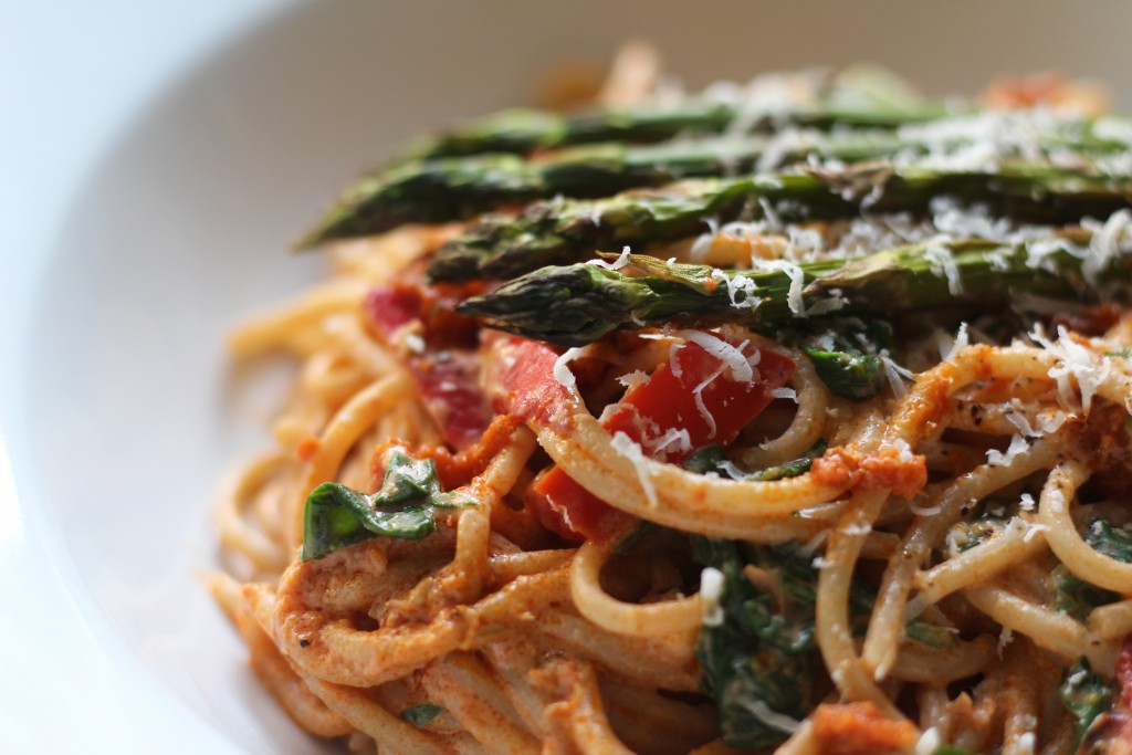 Roast veg and pesto spaghetti recipe 6